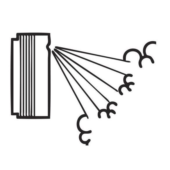 Three-hole 30° nozzle